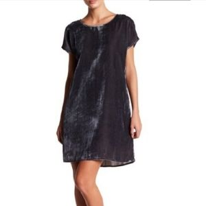 Chelsea & Theodore Crushed Velvet Grey Dress